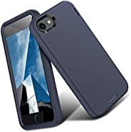 ORIbox iPhone 保护套,重型防震防摔保护套 iPhone 7/8 Plus Silicone Dark Blue