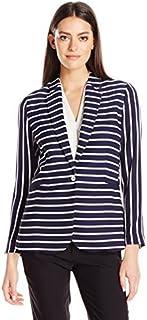 Foxcroft 女士长袖 Staci Club 条纹外套