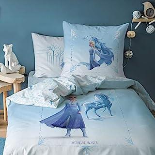 """冰雪奇缘床上用品套装 被套 140 x 200 厘米 + 枕套 63 x 63 厘米 * 纯棉 """"神话水"""""""