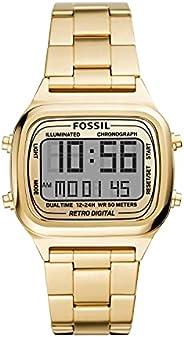 Fossil 手表 RETRO DIGITAL FS5843 男士 金色