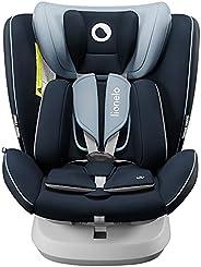 Lionelo Bastiaan ONE 儿童座椅 出生起 0-36 千克 Isofix Top Tether 360 度可旋转向后向前侧保护 5 点*带 Dri-Seat (蓝色)