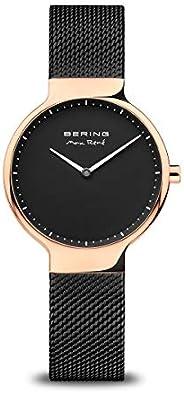 BERING Time   女式超薄手表 15531-262   31 毫米表壳   Max René 系列   不锈钢表带   防刮蓝宝石水晶   极简主义 - 丹麦设计