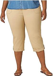 LEE 女士加大码弹性休闲七分裤