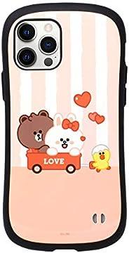 iFace LINE Friends First Class 专为 iPhone 12 Pro 和 iPhone 12(6.1 英寸)设计 – 可爱防震双层[硬壳+保险杠]手机壳 – 迷你棕色和朋友(可爱)