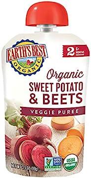 Earth's Best 阶段2婴儿辅食 红薯和甜菜口味 3.5盎司(99g)