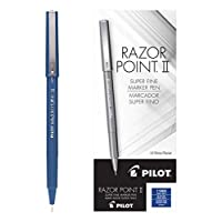 Pilot (11003) Razor Point II Super Line Marker 筆,藍色墨水,0.2 毫米,打
