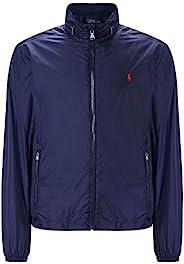 Polo Ralph Lauren 保羅拉夫勞倫男式尼龍連帽風衣夾克 *藍 Large