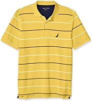 Nautica Pique 男士100%棉经典版型短袖条纹Polo衫