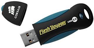 Corsair USB 3.0 Flash Voyager Flash Drive Corsair USB 3.0 Flash Voyager Flash Drive Black, Blue 128 GB