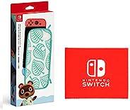 任天堂 Nintendo Switch便携包 红豆 动物森林 ~ 香波图案~(附屏幕保护膜) (【Amazon.co.jp限定】Nintendo Switch 标志设计 超细纤维布 捆绑)