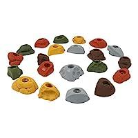 Atomik 攀巖可容納 21 個經典裝螺栓,非常適合家庭或健身房攀巖墻,地球色調。