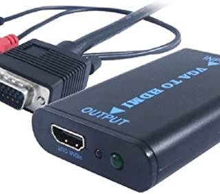 Unibos Unvh - 100 + 音频至 HDMI VGA 公对母接头 黑色