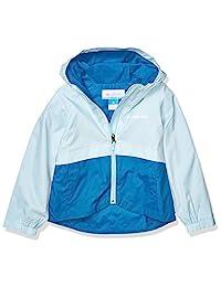 Columbia 女童 Rain-Zilla 夹克,防水,反光