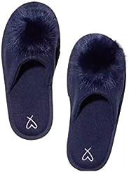 Victoria Secret Pom-Pom 拖鞋 *藍 M 碼