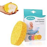 沐浴天然婴儿海绵,* *婴儿沐浴海绵,可生物降解,低*性,柔软吸水海绵,适用于婴儿皮肤