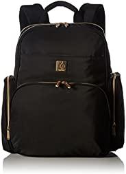 ErgoBaby Anywhere 我走尿布包背包 - 内部整理口袋 - 宽敞,符合人体工程学设计 - 软背垫 - 包括尿布更换垫 黑色