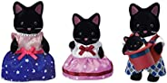 Calico Critters 午夜猫家族,玩具屋公仔,包含4个公仔的收藏玩具