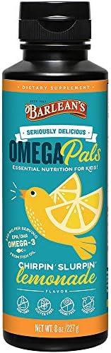 Barlean's Organic Oils 鱼油,Chirpin'Slurpin' 柠檬水,8盎司,2