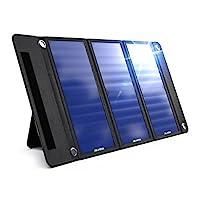 Wildtek SOURCE 21W 防水便携式太阳能充电器面板,带两个 USB 端口