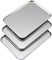 下村企販 烤肉浅盘 3件 18.5×25.5×1.1cm 日本制造 34625