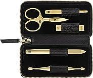 ZWILLING 双立人 TWINOX 修甲套装 5 件套,带 TWIN® S *钳,皮革,黑色(97748-004-0)