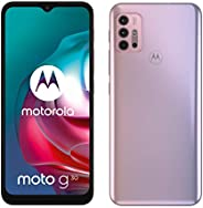 Moto G30(6.5 英寸 90Hz,高通骁龙 64MP 四摄像头系统 5000 毫安电池 双 SIM 安卓 11) 4GB RAM 浅灰色