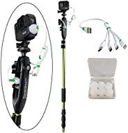 YOLOtek PowerStick-53 GoPro 船架 - 导航灯支架兼容 GoPro & 运动相机。捆绑套件 YOL