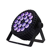 SHEHDS 18 X 18W LED DJ 舞台灯,舞台平光灯 RGBWA UV 6 合 1 带 DMX512 控制声控 LED 向上照明灯