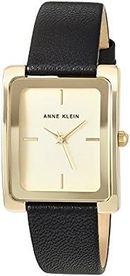 Anne Klein 女士皮革手链手表,AK/2706CHBK