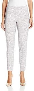 SLIM-SATION 女式宽带套穿花卉印花九分裤