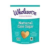 Wholesome 天然蔗糖,公平貿易,未精制,非轉*,不含麩質 Natural Cane Sugar 1.5 Pound (Pack of 6)