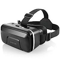 Elecom 宜丽客 VR护目镜 VR头戴式耳机 可调整焦距 可佩戴眼镜 4.0~6.5英寸的iPhone/andorid可用 黑色 VRG-X01BK