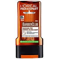 L'Oreal Paris 巴黎欧莱雅 Men Expert Barber Club男士沐浴露,适合身体,毛发和胡须,带有雪松木香气,可确保24小时持久清新(1 x 300ml)