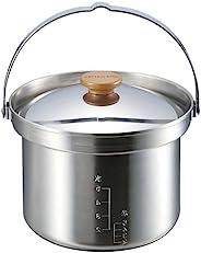 CAPTAIN STAG 鹿牌 野营 烧烤用 电饭煲 3层钢 5合(约10.2毫升)
