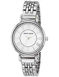 Anne Klein 女士手链手表,银色,均码
