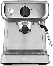 Breville 铂富 VCF125X Barista Mini 意式咖啡机,可制备意式浓缩(Espresso)/拿铁/卡布奇诺,2L水箱,牛奶起泡器,15巴意大利泵,不锈钢,银色