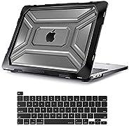 MOSISO MacBook Pro 13 英寸保护套 2020 年发布 A2338 M1 A2289 A2251,重型塑料硬壳保护套带 TPU 缓冲器和键盘保护套仅适用于带触控栏的 MacBook Pro 13 英寸笔