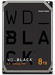 西数 8TB WD_Black 性能内部硬盘驱动器 -7200 RPM 类、SATA 6 Gb/s、256 MB 高速缓存、3.5 英寸-WD8001FZBX