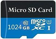 Micro SD 卡 1TB Class 10 高速 Micro SDXC 卡存储卡,适用于带 SD 适配器的手机、平板电脑和电脑(1TB-A)