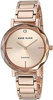 Anne Klein 安妮克莱因 女式钻石表盘手链手表带刻面镜片