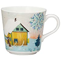 NARUMI 鳴海 馬克杯 Anna Emilia系列 冬天 340cc(約340ml) 微波爐&洗碗機可用 52190-2923P