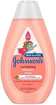Johnson's Baby Curl-defining 無淚兒童洗發水,含乳木果油 13.6液體盎司/4