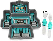 KidsFunwares Me Time Meal Set (Robot) ?? 3-Piece Set for Kids and Toddlers ?? Plate, Fork and Spoon that Child