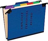 Pendaflex 悬挂员工/人事文件夹,信函尺寸,蓝色,每盒 10 件 (SER-2-BL)