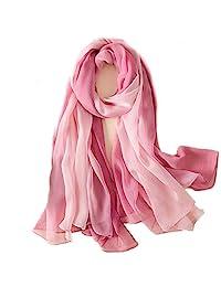 女式真丝围巾长围巾时尚设计师围巾轻便披肩*披肩