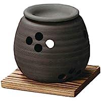 Yamakiikai 摆件 黑色 直径11厘米 石龙黑泥大丸 茶香炉 L1605
