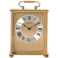 Seiko 桌子和桌子座时钟金色纯黄铜底座和上衣