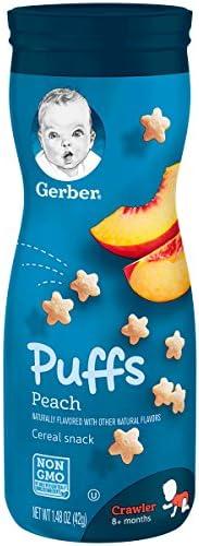 Gerber 嘉宝 泡芙谷物零食 桃子味 天然味道调和 1.48盎司(42克) 6个装