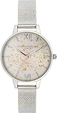 Olivia Burton 女式模拟石英手表不锈钢表带 OB16GD14