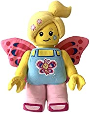 Manhattan Toy 乐高迷你玩偶蝴蝶女孩带花朵,12 英寸毛绒公仔